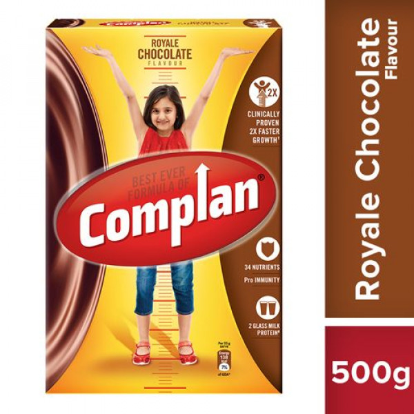 Complan Growth Drink Mix - Royale Chocolate Flavour, 500 g Carton