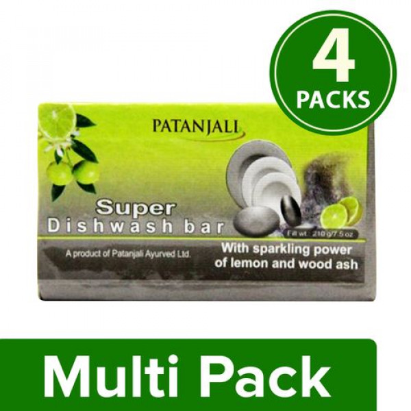 Patanjali Super - Dishwash Bar  4pic combo pack