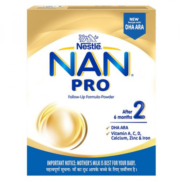 Nestle  Nestle Nan Pro 2 Follow-Up Formula Powder - After 6 months, Stage 2, 400 g Bag-In-Box
