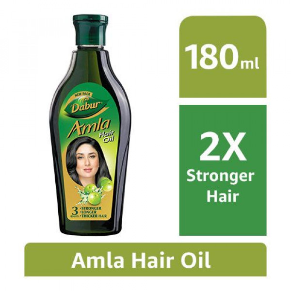 Dabur Amla Hair Oil - Long, Healthy & Strong Hair, 180 ml