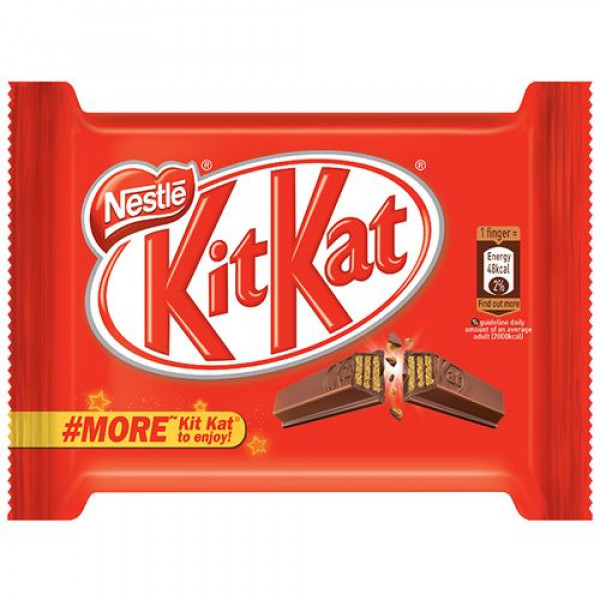 Nestle  Kitkat 4 Finger Chocolate Covered Wafer Bar, 37.3 g Pouch