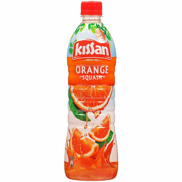 Kissan Orange Squash Bottle, 750ml