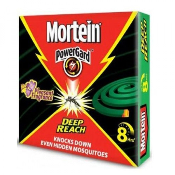 Mortein Mosquito Repellent Coil - Deep Reach (Pleasant Fragrance), 8 Hrs