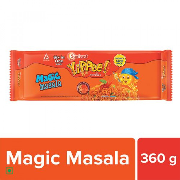 Sunfeast Yippee  Noodles - Magic Masala, 360 g Pouch