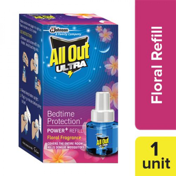 All Out Ultra Power+ Floral Fragrance, 45 ml