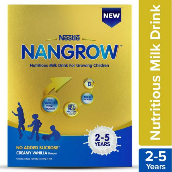 Nestle  Nangrow Nutritious Milk Drink For Growing Children - 2-5 years, Creamy Vanilla, 400 g Bag-In-Box