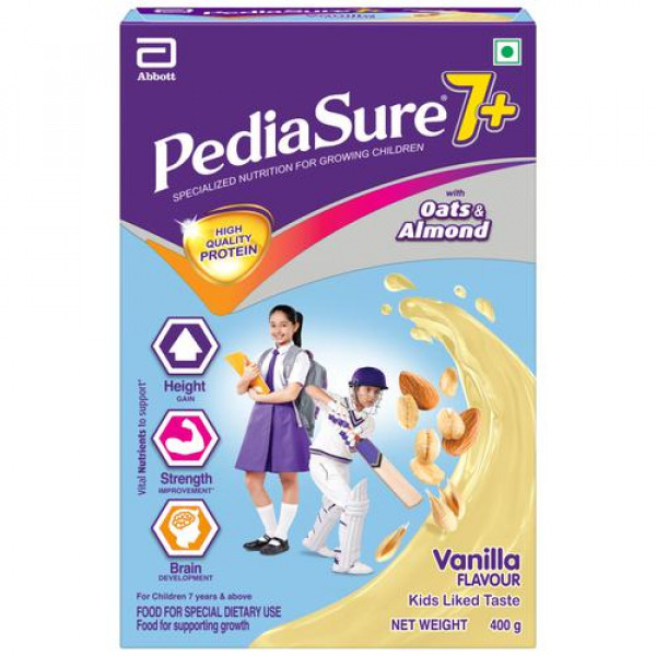 Pediasure 7+ Specialised Nutrition Drink Powder For Growing Children - Vanilla Flavour, 400 g