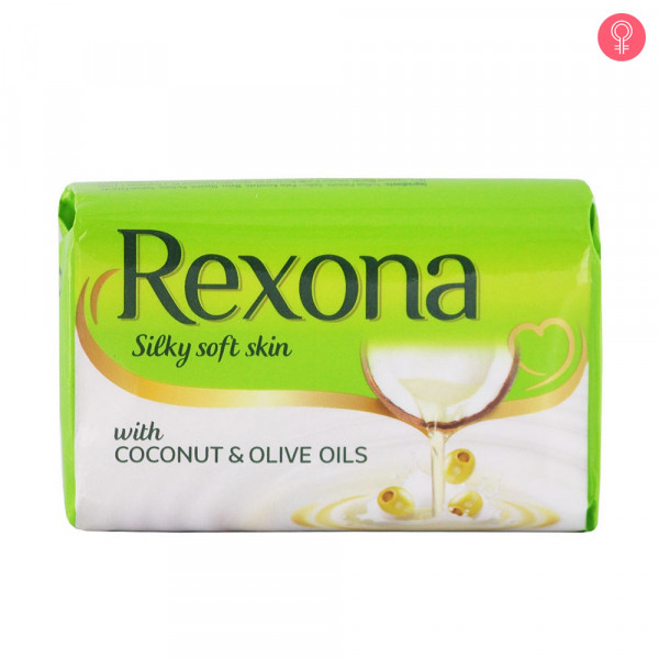 Rexona Silky Soft Skin Coconut & Olive Oil Soap Bar,100 g