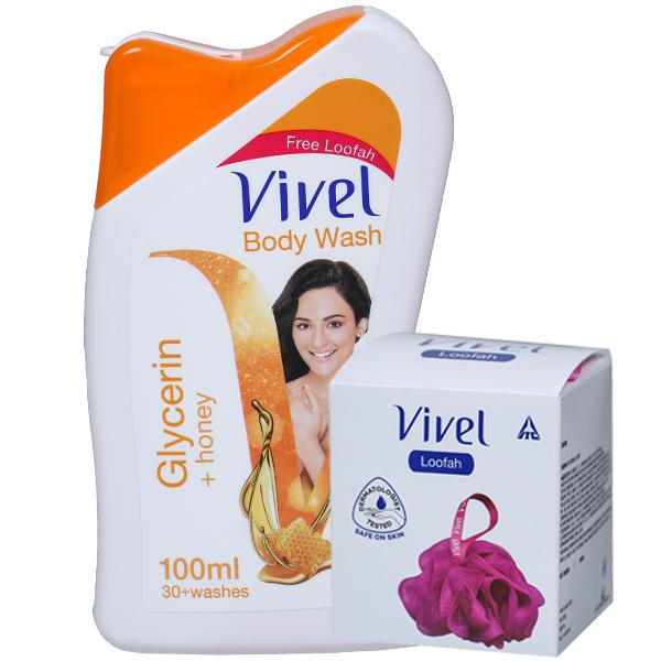 Vivel Body Wash - GLYCERIN + HONEY , 100 ml