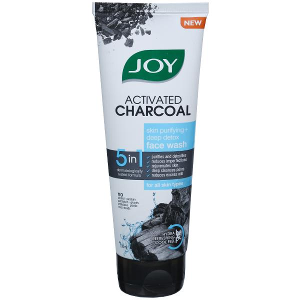 Joy Activated  Charcoal -Skin Purifying +Deep Detox Face wash  50ml
