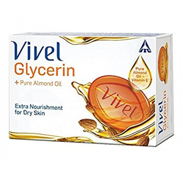 Vivel Bathing Soap - Glycerin Soft Moisturized, 100 g
