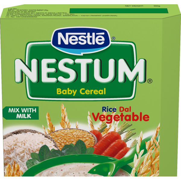 Nestle Nestum Infant Cereal Stage-2 (8 Months-24 Months) Rice Dal Vegetable 300G