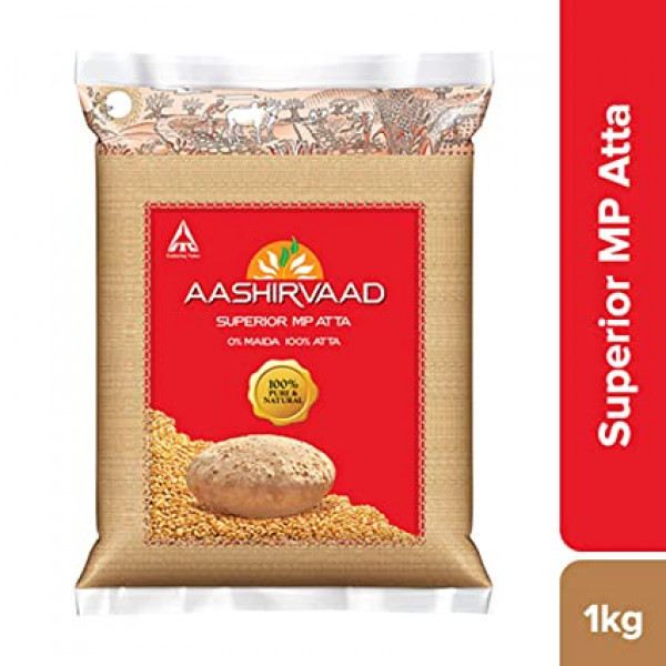Aashirvaad Atta -/ আটা Whole Wheat, 1 kg Pouch