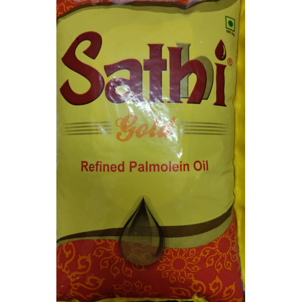 Sathi  Gold Refined Palmolein Oil 1ltr Pouch