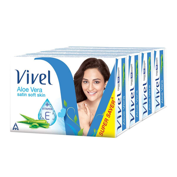 Vivel Bathing Soap - Aloe Vera, 100 g x 4 Pack of 4