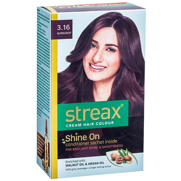 Streax Cream Hair Colour 3.16 Burgundy (25 gm + 25 ml)