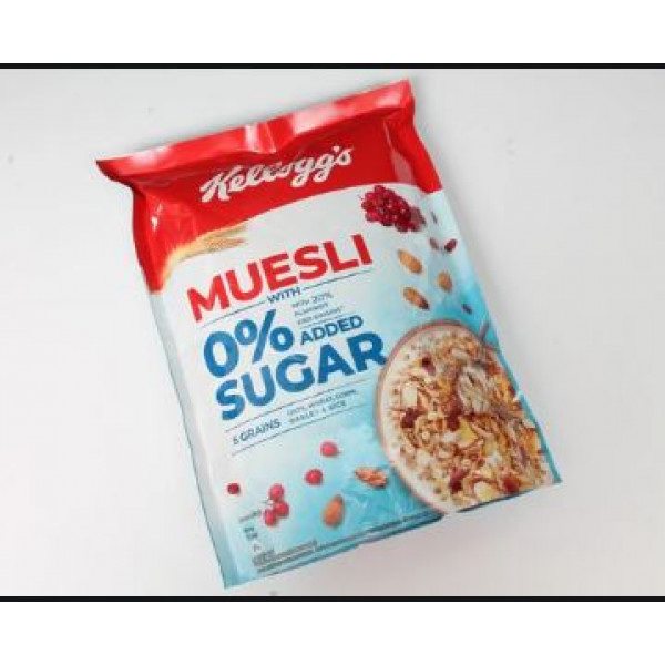 Kellogg's Muesli with 0 % Sugar With 20% Almonds And Raisins 500gm