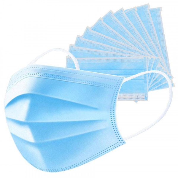 5 x Generic  Disposable Surgical Face Mask, Blue Pack of 5