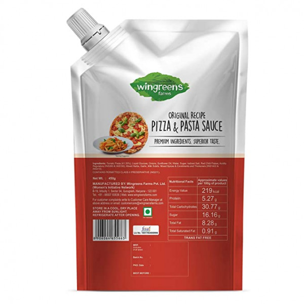 Wingreens Farms- Pizza & Pasta Sauce (Pack of 1-450g)