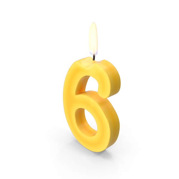 Birth day   Candel  Number 6
