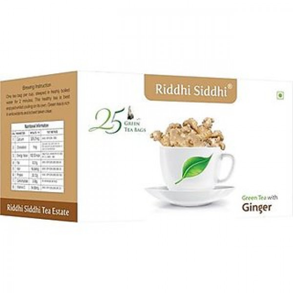 Riddhi Siddhi Green Tea  With  Ginger (25 Bags )