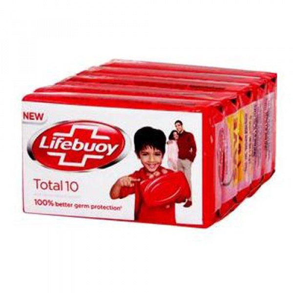 Lifebuoy Total 10 Soap Bar, 125gx4  Combo pack (Buy 3 get 1 free)